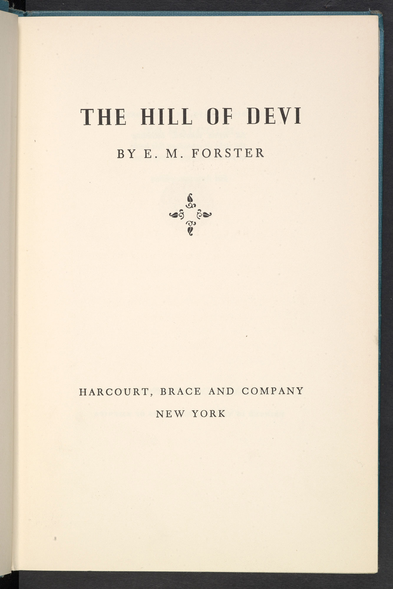 The Hill of Devi by E M Forster