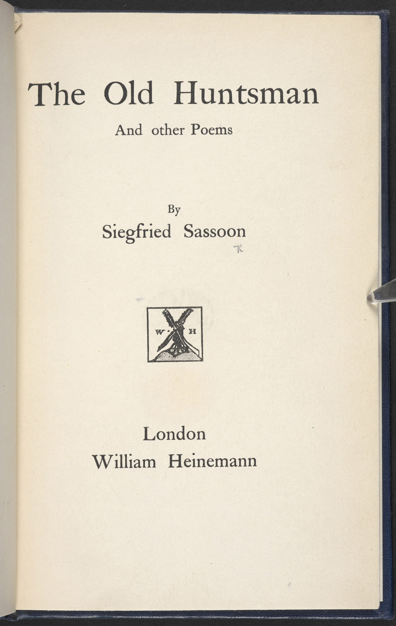 The Old Huntsman by Siegfried Sassoon