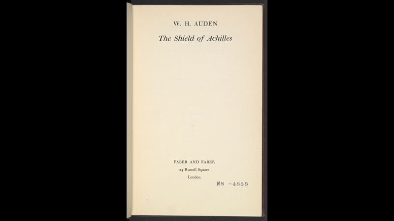 The Shield of Achilles by W H Auden