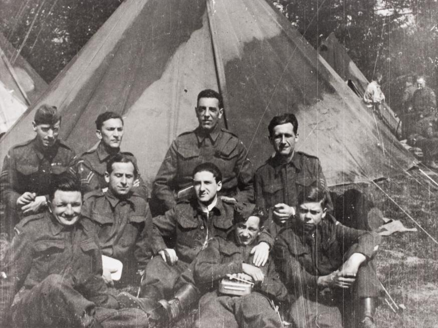 Photograph of Orwell in the Home Guard
