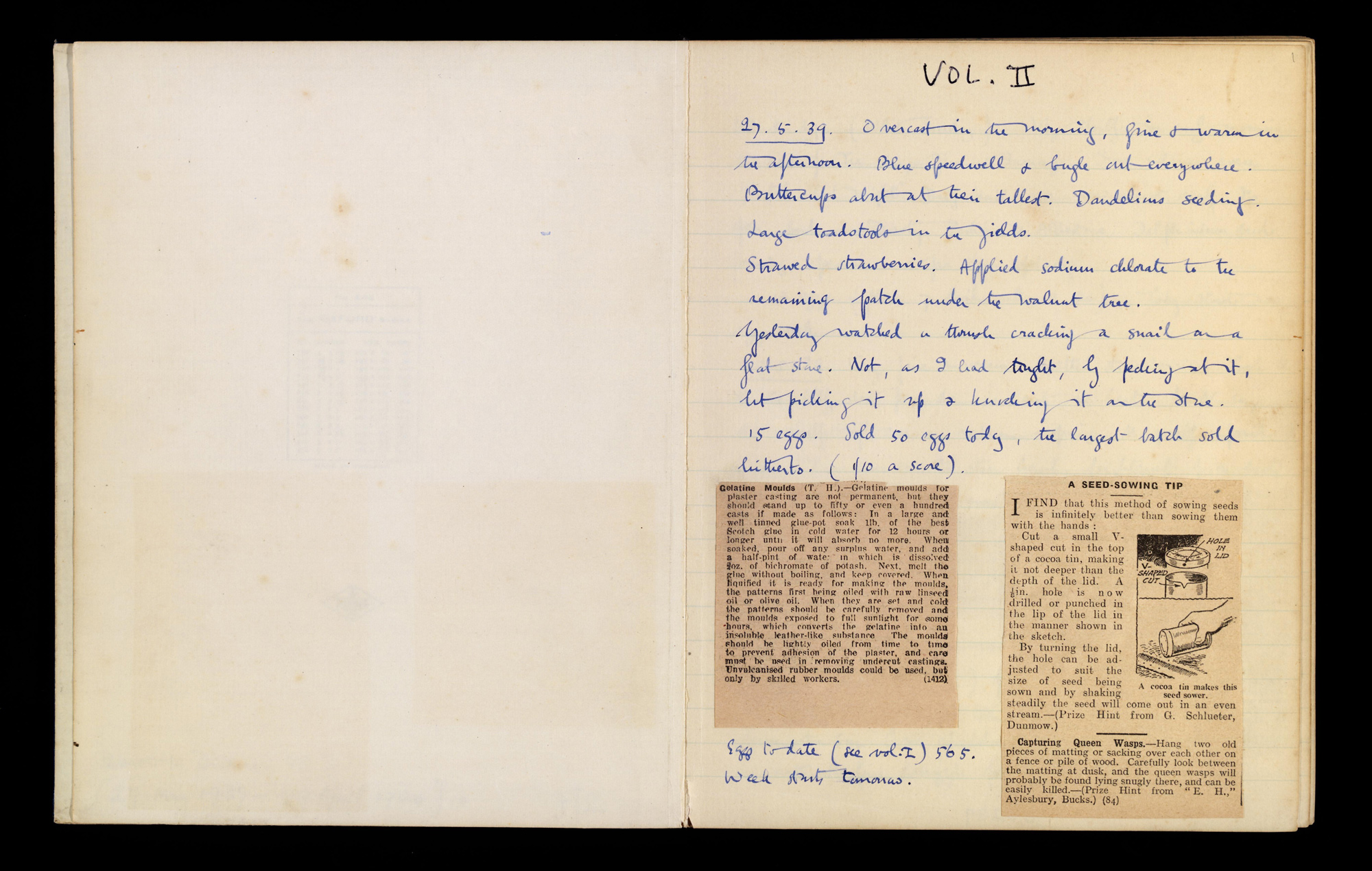 Orwell's Domestic Diary 1939-1940