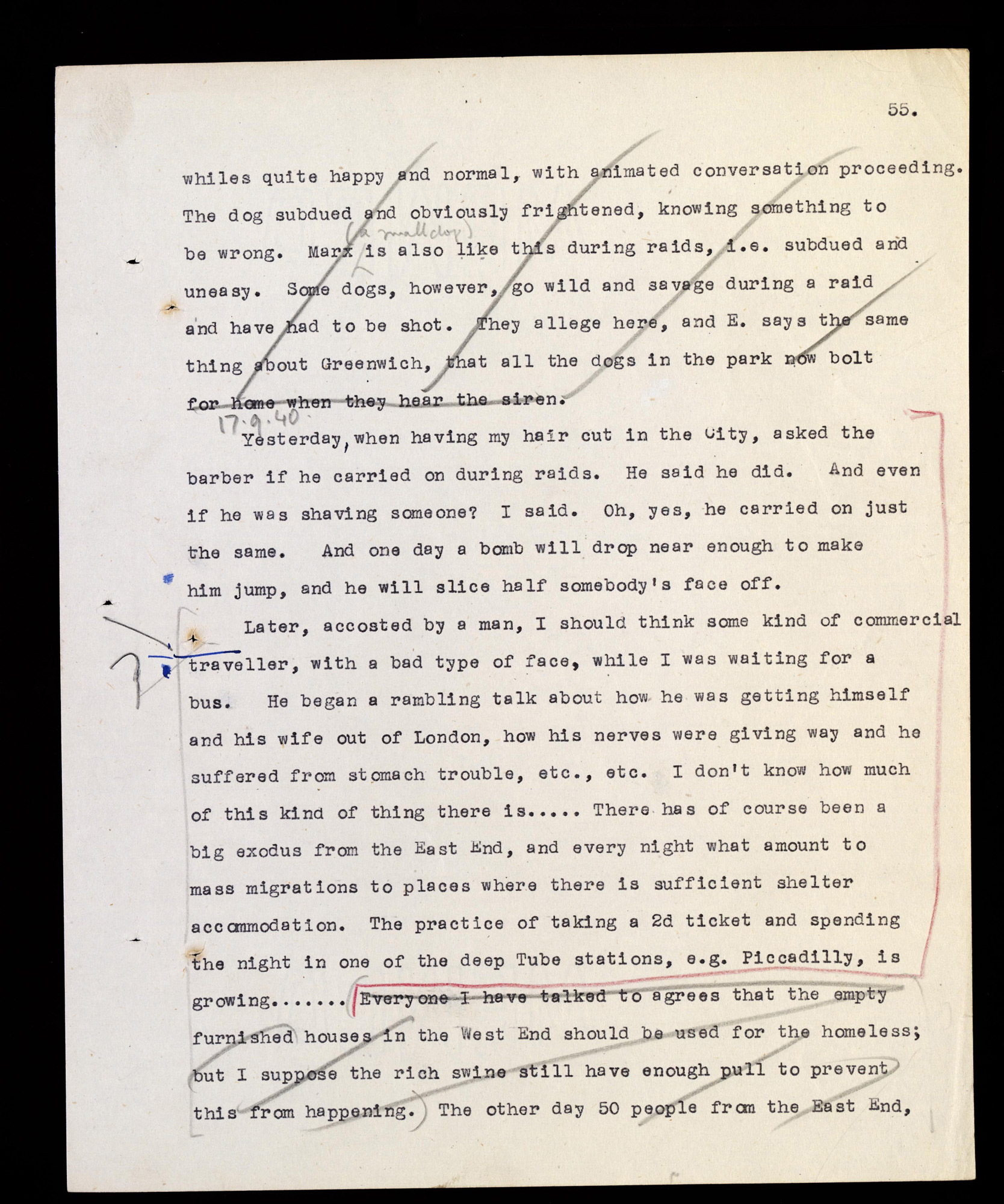 Orwell's Political Diary 1940-1941