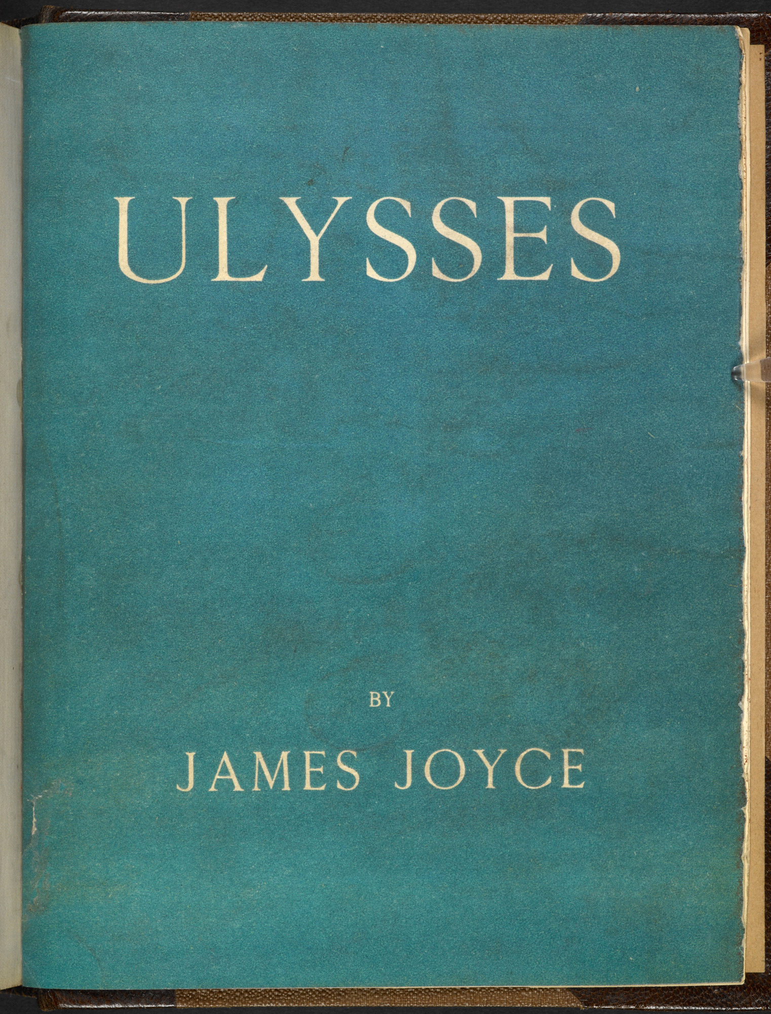 'Ulysses' by James Joyce, published by Shakespeare and Company