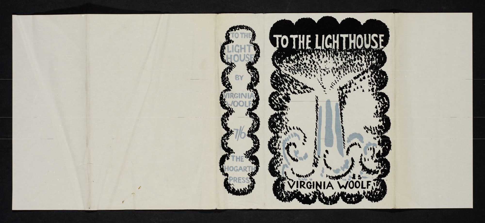 'Vanessa Bell dust jacket for To the Lighthouse