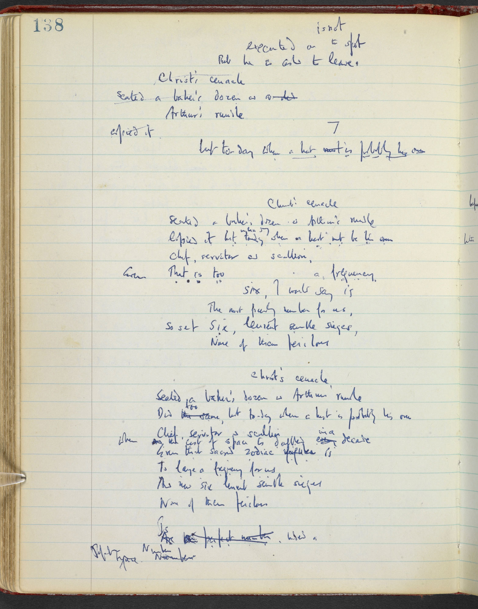 W H Auden's notebook of poetry and prose; circa 1946-1965