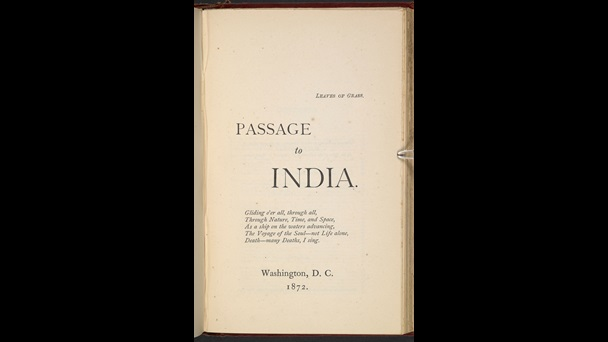 'Walt Whitman's 'Passage to India'