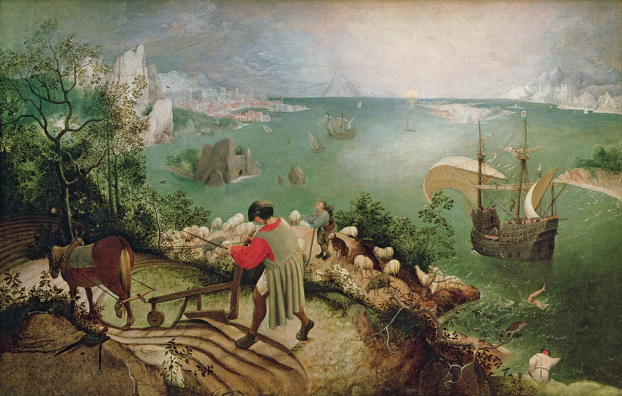 Landscape with the Fall of Icarus - The British Library