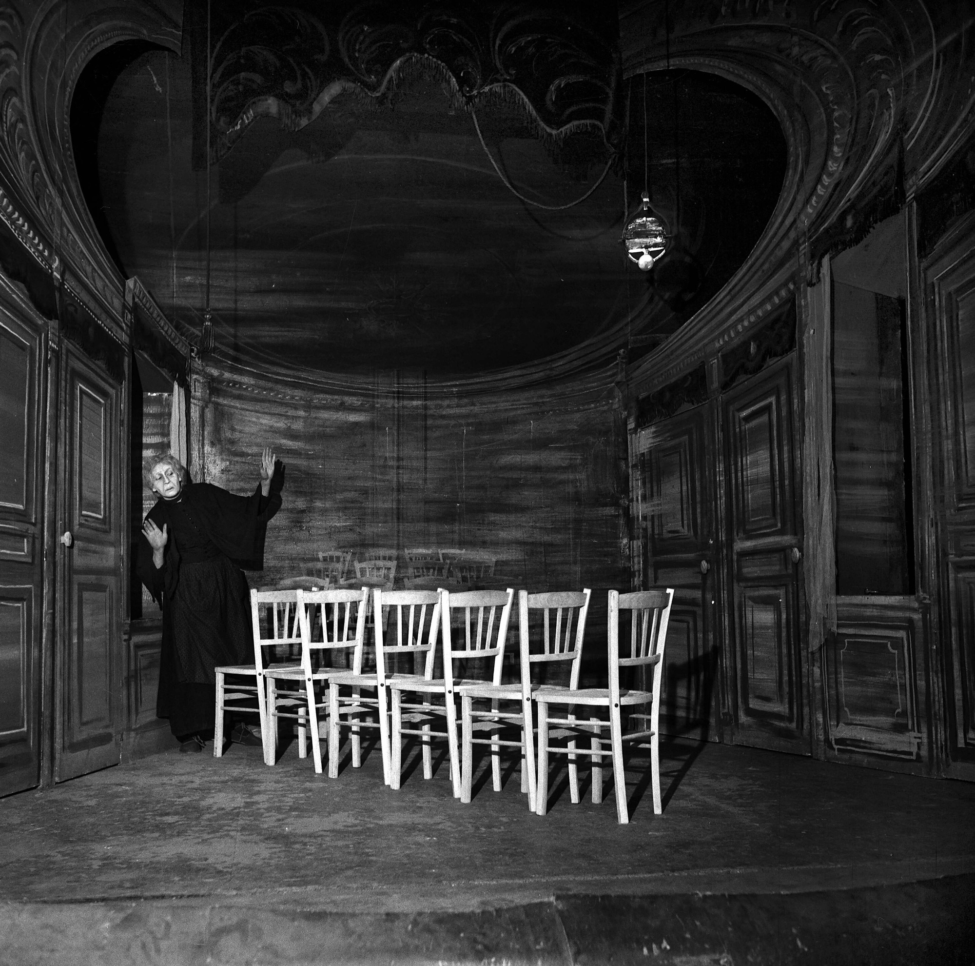 Photograph of The Chairs by Eugene Ionesco, 1956