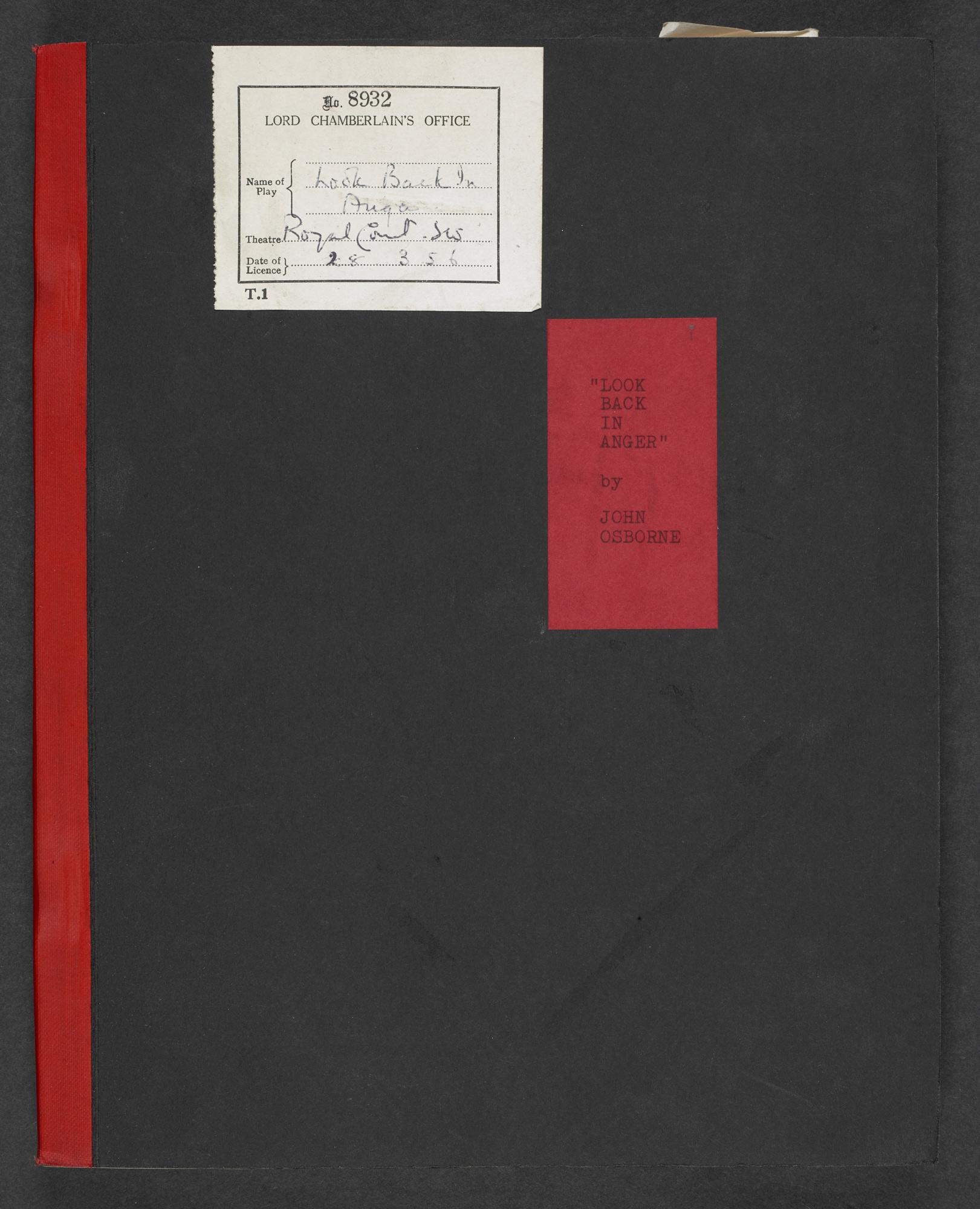 Censored script of Look Back in Anger by John Osborne - The British