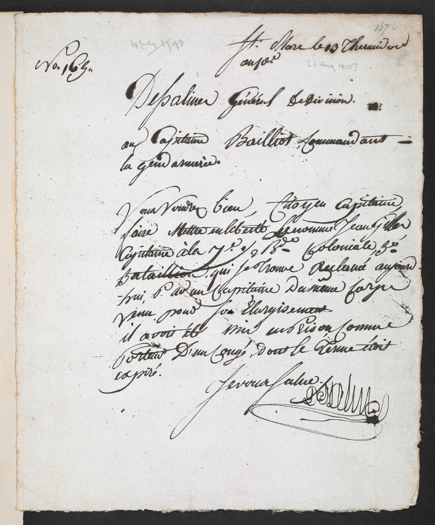 Letter from Jean-Jacques Dessalines, 1793