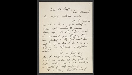 Letters between Shelagh Delaney, Gerry Raffles and the Arts Council, 1958
