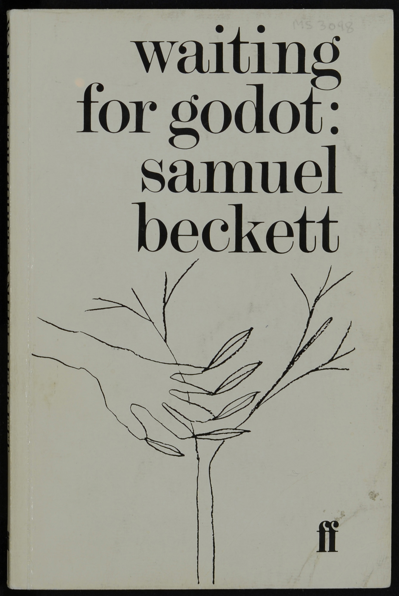 Manuscript annotations by Samuel Beckett in a copy of Waiting for Godot