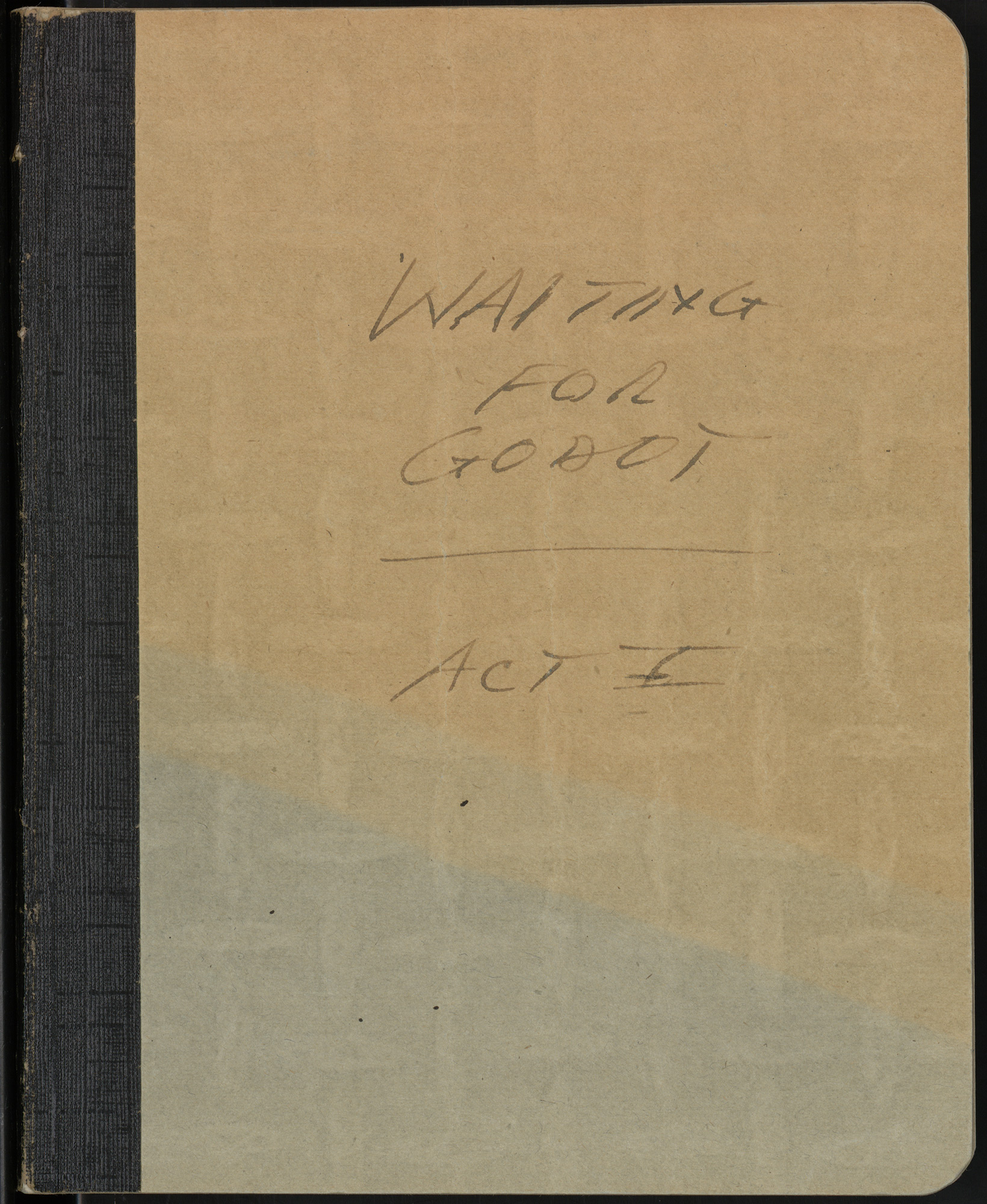 Notebook drafts of Waiting for Godot by Samuel Beckett