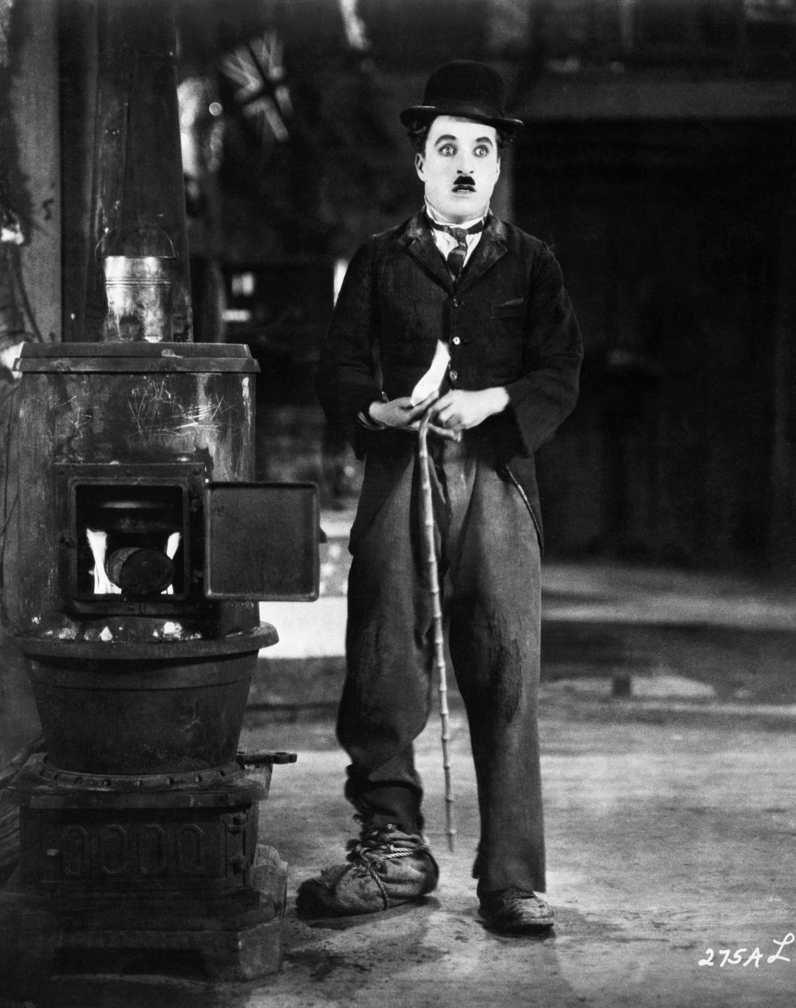 Photograph of Charlie Chaplin as the Tramp in The Gold Rush, c. 1925