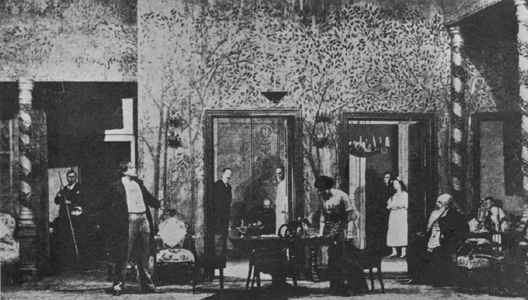 Photograph of Stanislavki's 1903 production of Chekov's The Cherry Orchard
