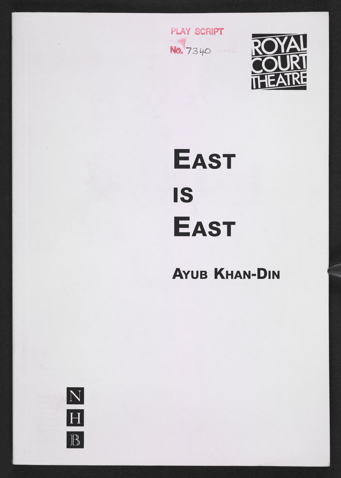 Playscript of East is East by Ayub Khan Din, 1996