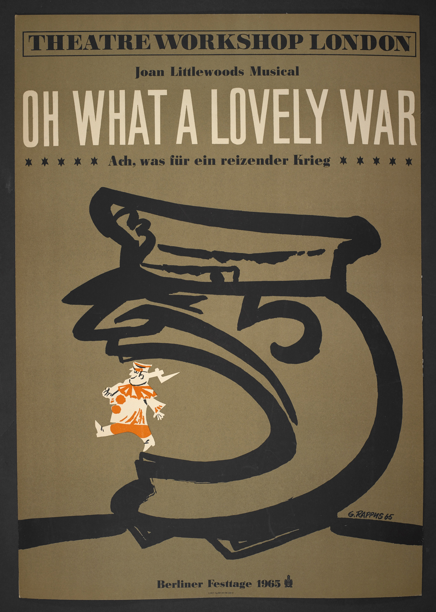 Poster for the East Berlin production of Oh What a Lovely War