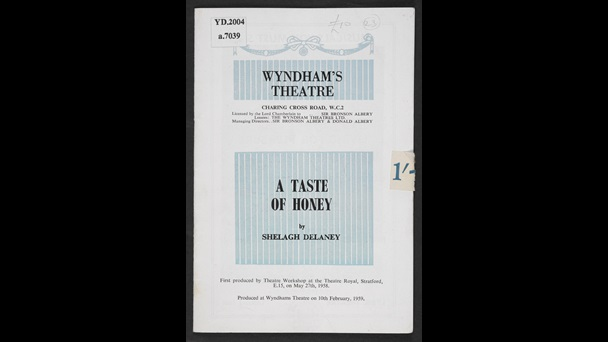 Programme for A Taste of Honey at Wyndham's Theatre, 1959