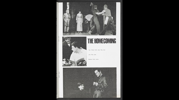 Programme for The Homecoming at the Aldwych Theatre, 1965