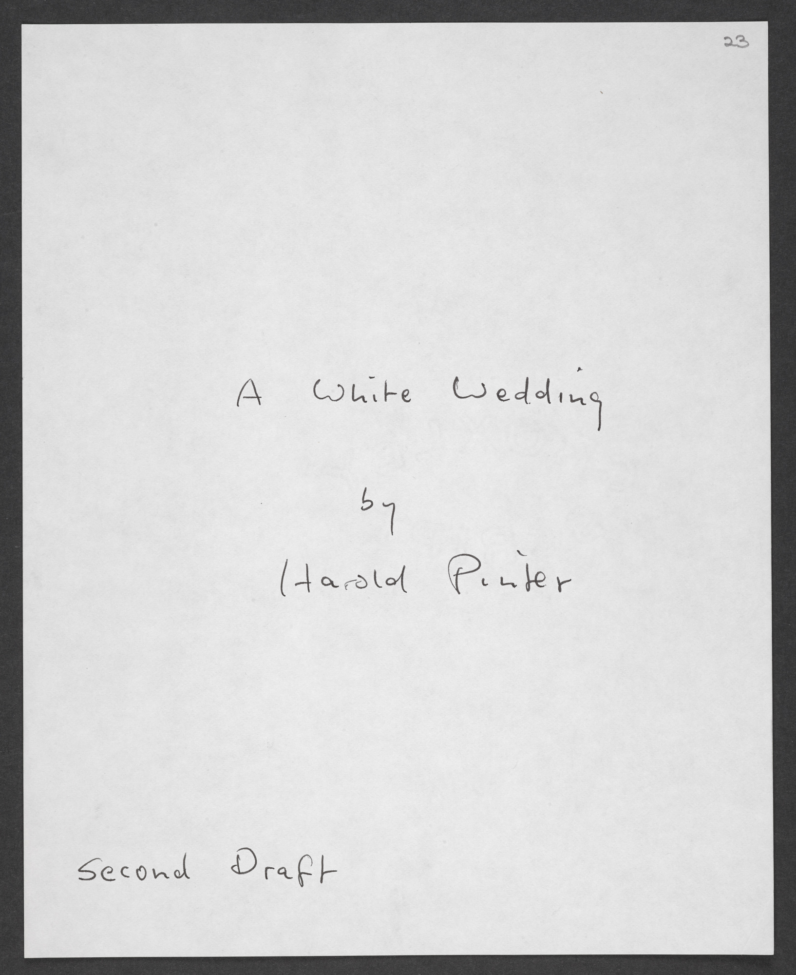 Typescript draft of Betrayal by Harold Pinter with revisions