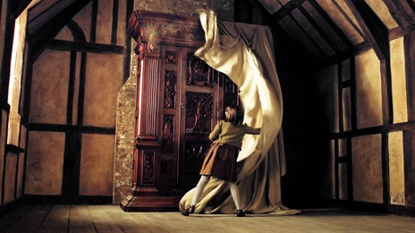Film still from The Chronicles of Narnia, showing the wardrobe