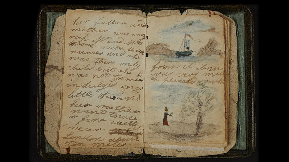 Tiny book made by 12 year-old Charlotte Bronte
