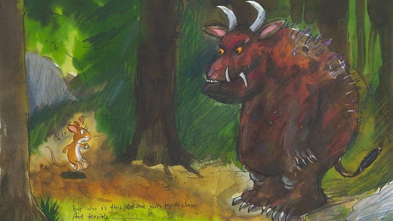 Painting of The Gruffalo