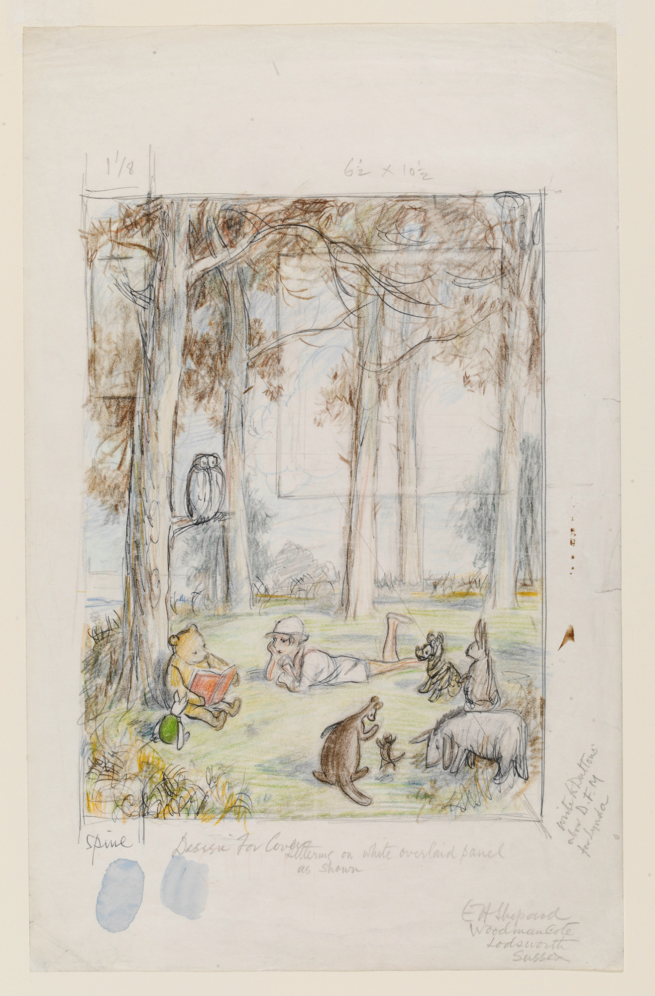 Winnie The Pooh By A A Milne Illustrated By E H Shepard Original Sketches And Artworks The British Library