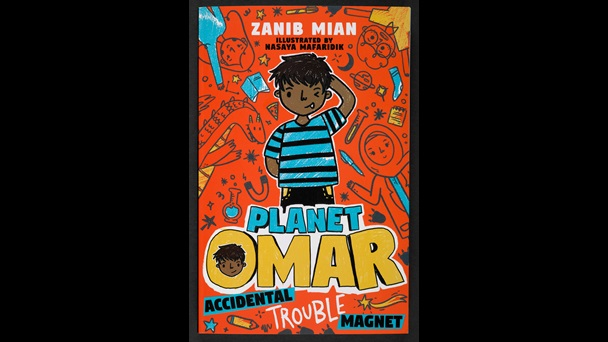 There's a cheeky-looking illustration of Omar wearing a stripy t-shirt and scratching his head.