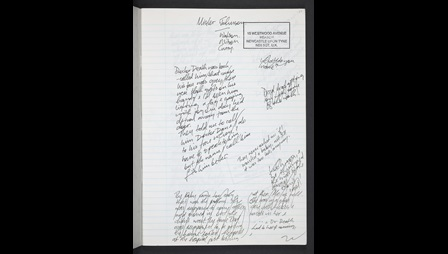 Skellig by David Almond: notebook and early typescript draft