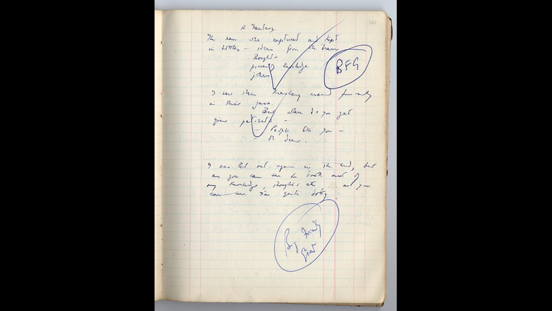 The BFG by Roald Dahl: pages from the Ideas Book and manuscript drafts