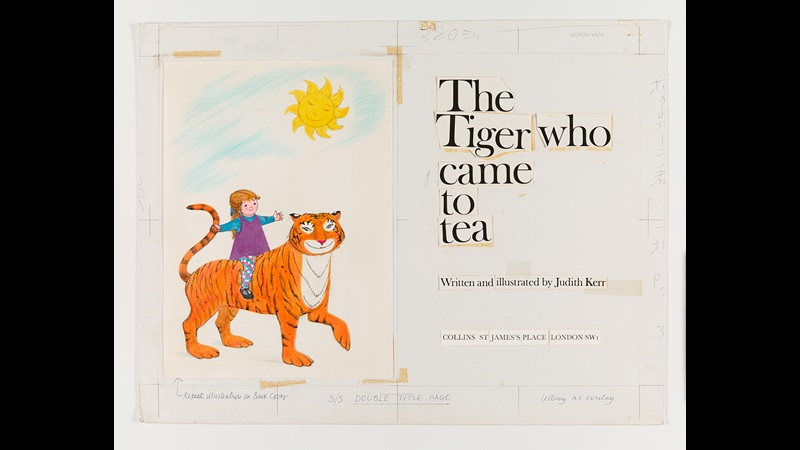 The Tiger Who Came to Tea by Judith Kerr sketches and original artwork
