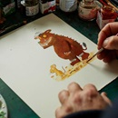 A painting of Gruffalo in progress