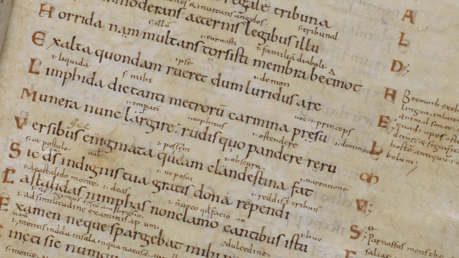 Aldhelm's riddles, to illustrate the Exeter Book riddles in context