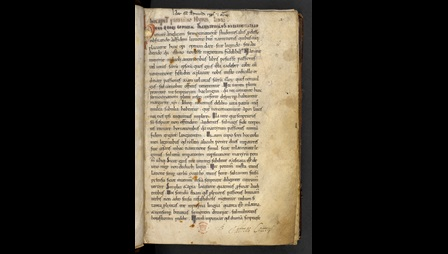 The opening page of an 11th-century copy of Ælfric's Lives of Saints.