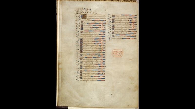 Decorated text page from the Book of the City of Ladies manuscript