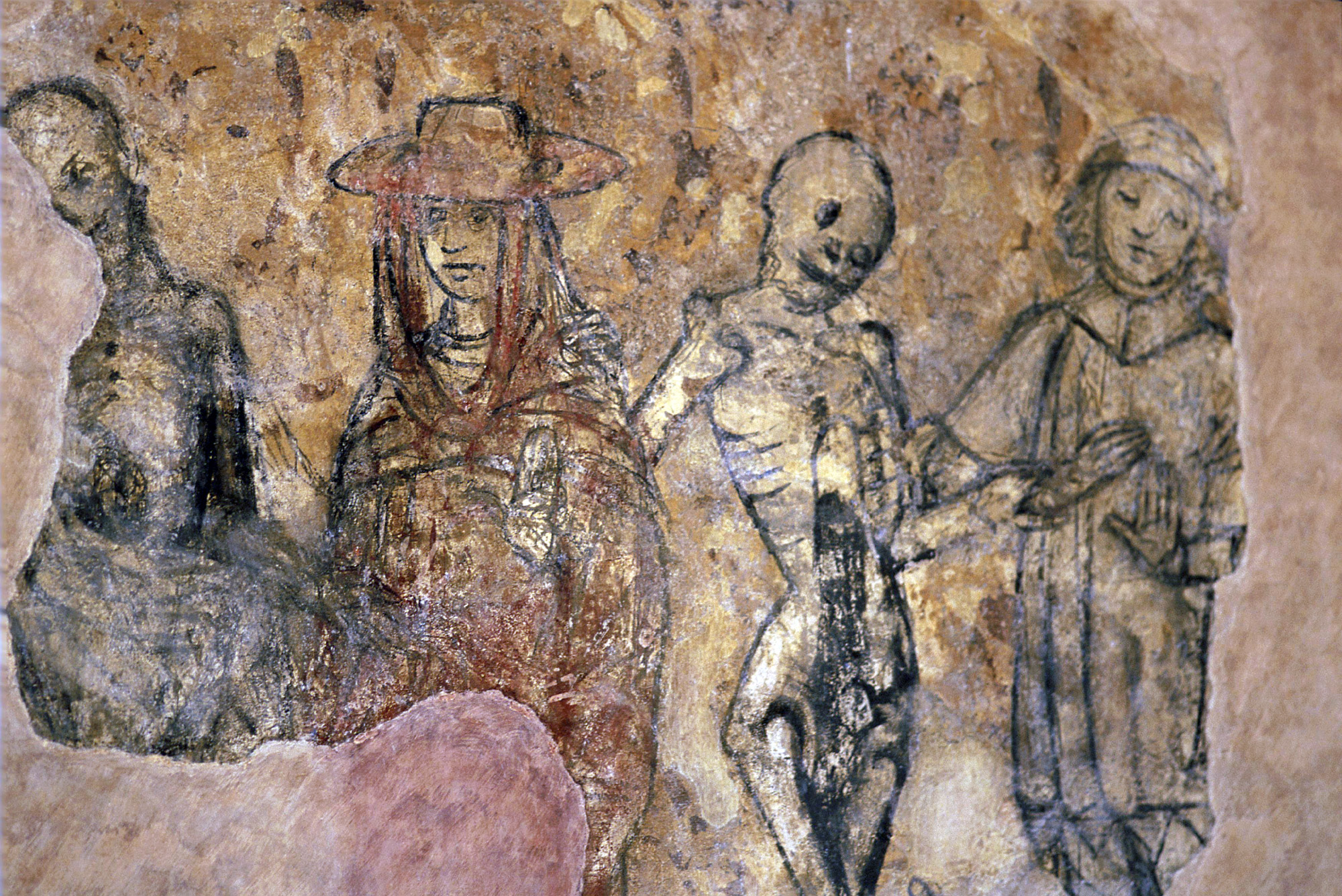 Fresco depicting a danse macabre