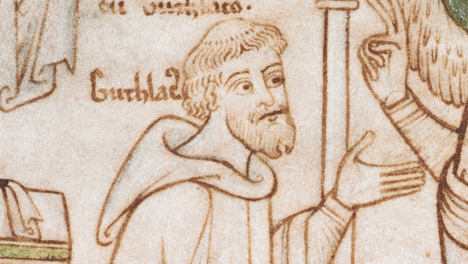 Portrait of Guthlac