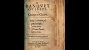 Printed title page from A Banquet of Jests, 1633, listing 'modern jests, witty jeers, pleasent taunts, merry tales'