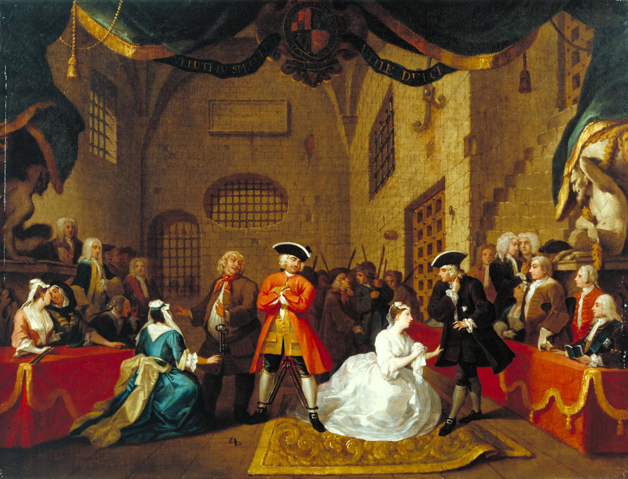A scene from The Beggar's Opera by William Hogarth, 1731