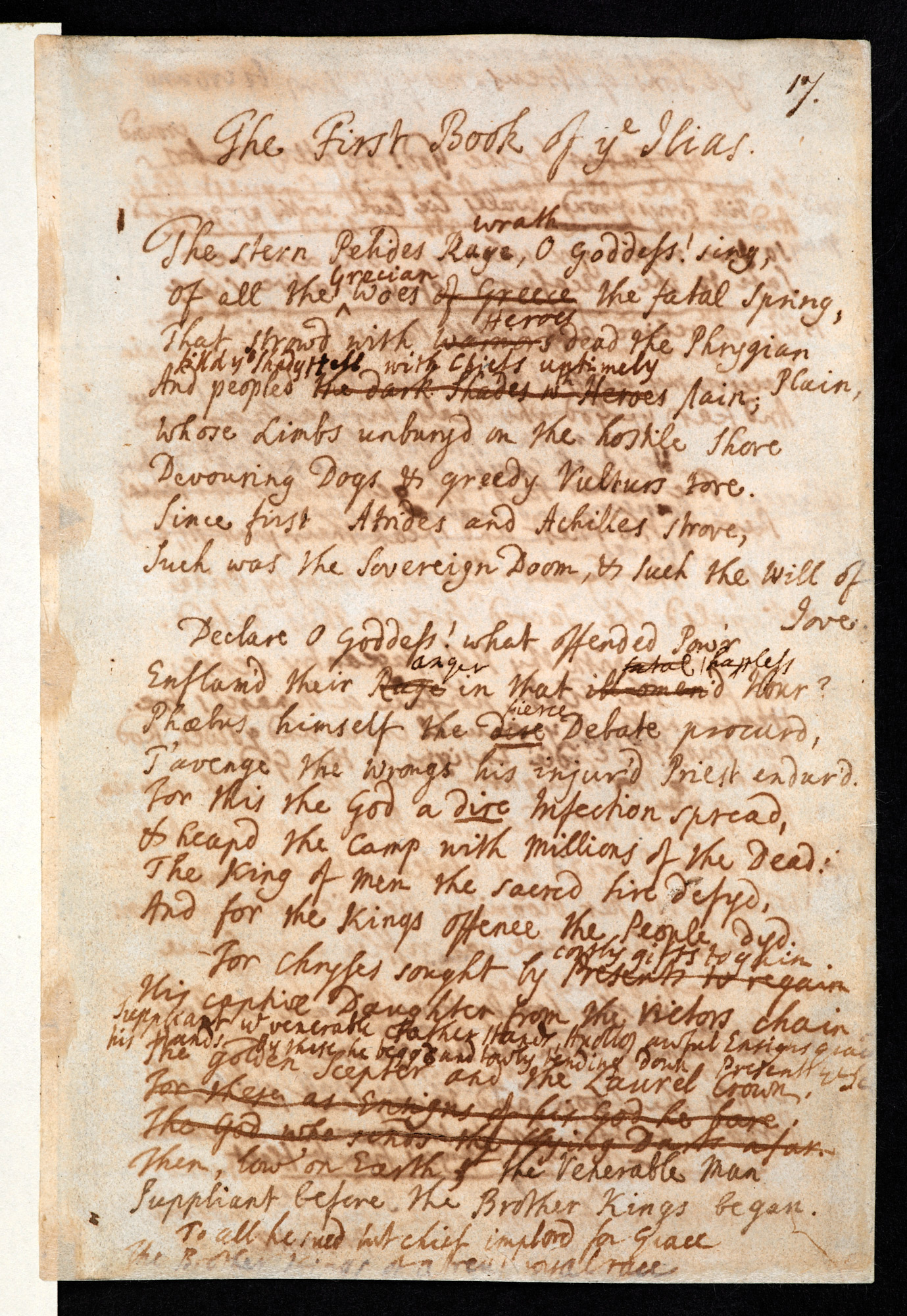 Alexander Pope's translation of the 'Iliad'