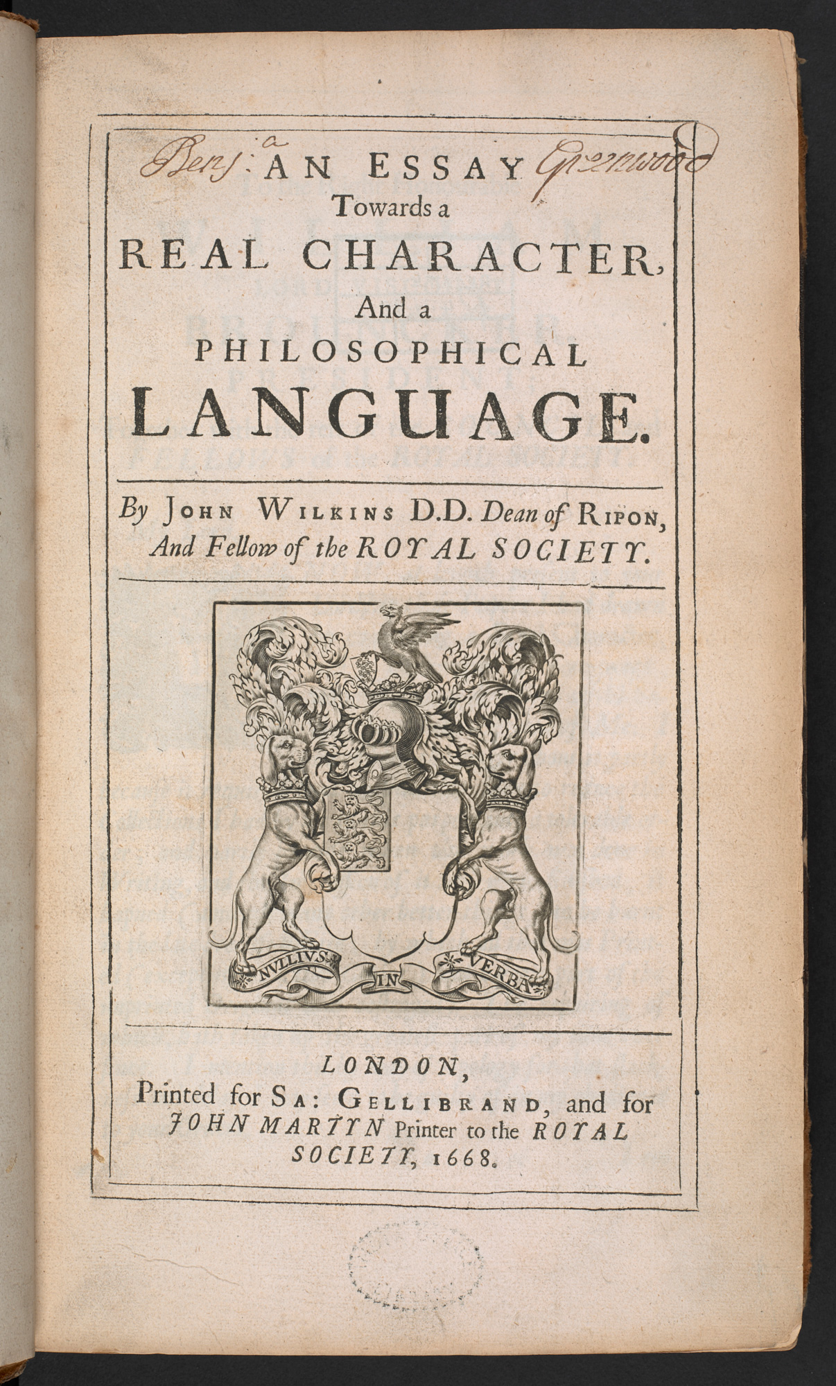 An Essay toward a Philosophical Language