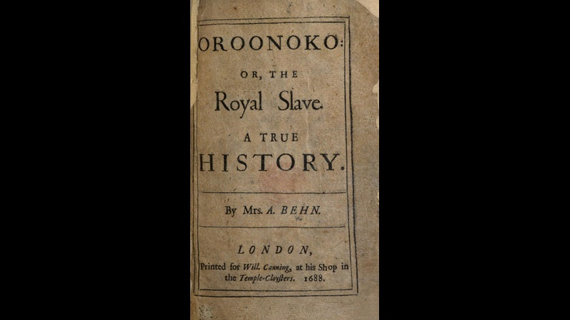 Printed title page from Aphra Behn's Oroonoko, 1688