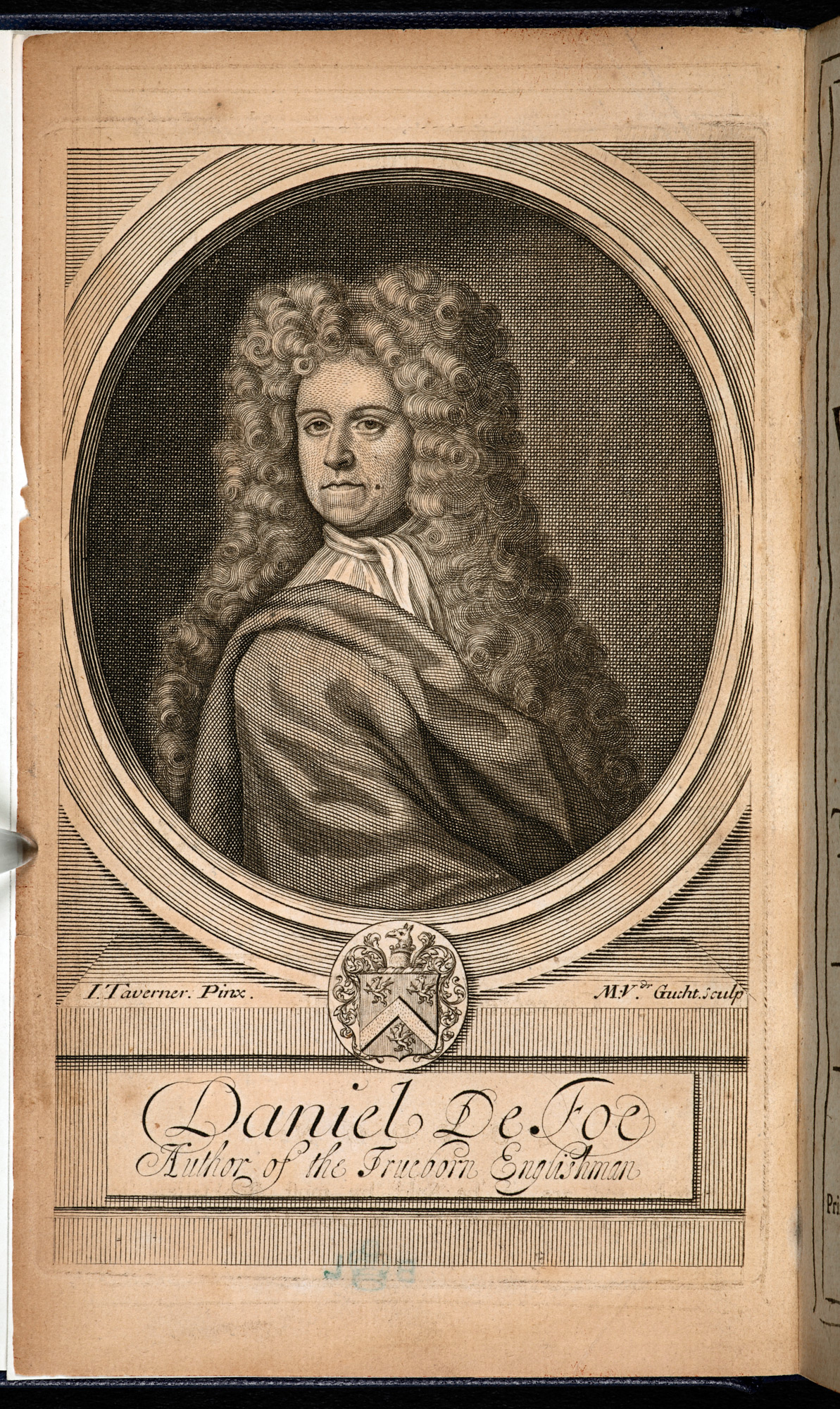 Engraving of Daniel Defoe, 1703