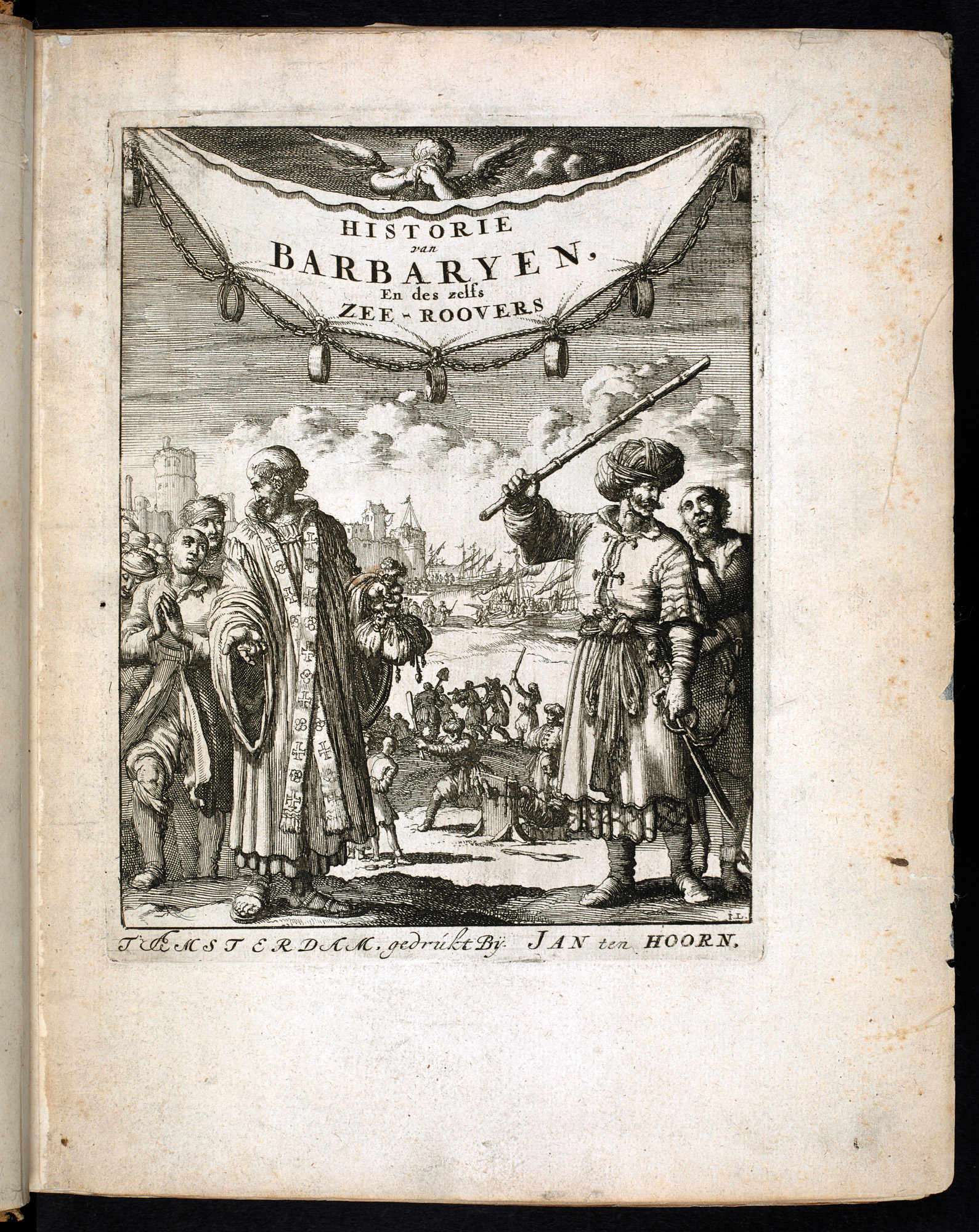 Engravings of European slaves in Pierre Dan's History of Barbary and its Pirates, 1684