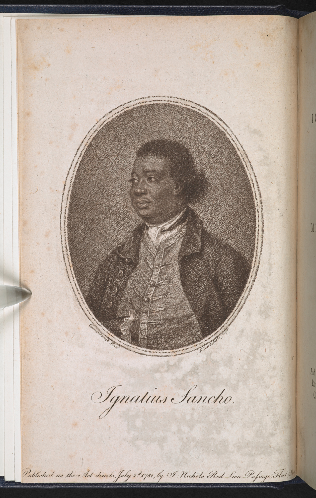 First edition of the Letters of the late Ignatius Sancho, an African, 1782