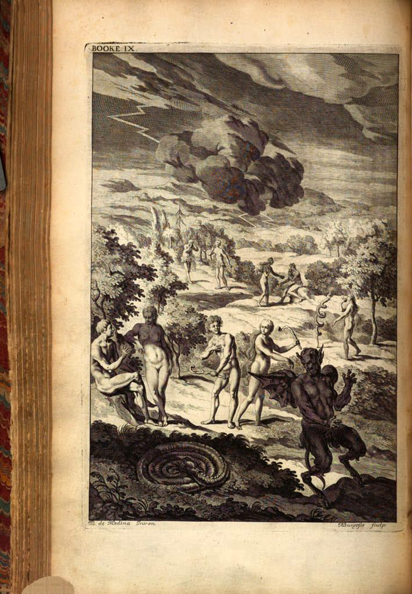 First illustrated edition of Paradise Lost, 1688
