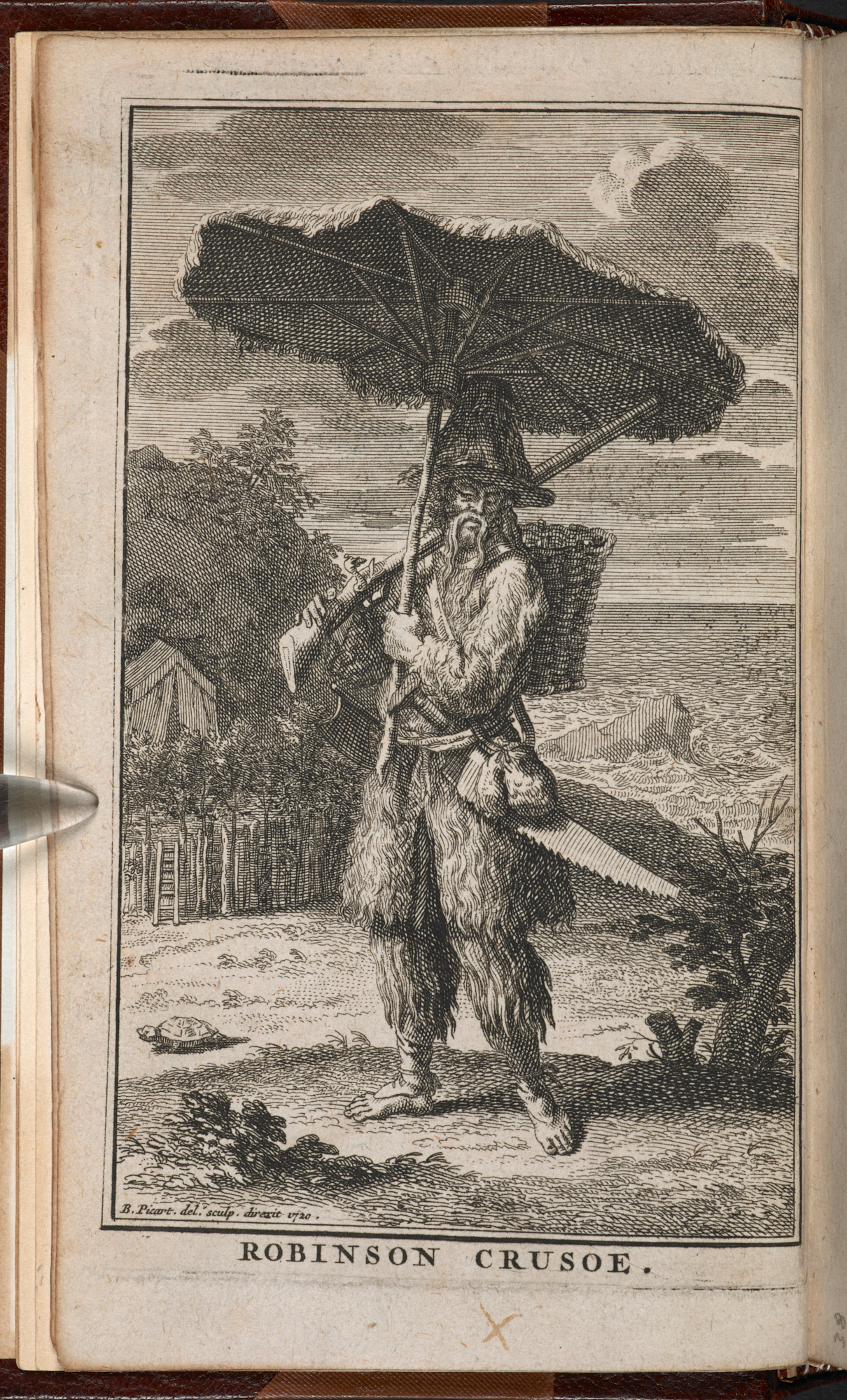 French edition of Robinson Crusoe, 1720