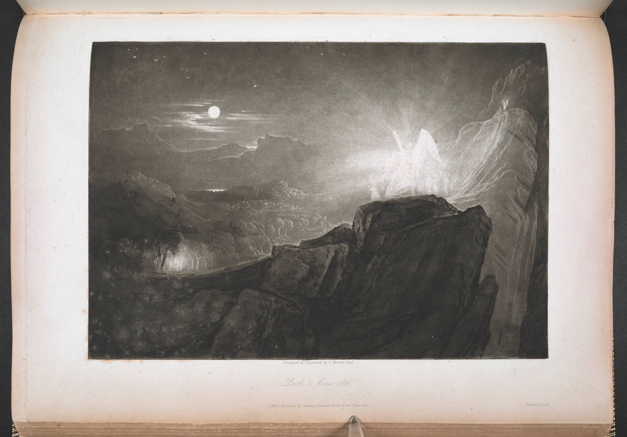 John Martin's illustrations for Paradise Lost, 1827