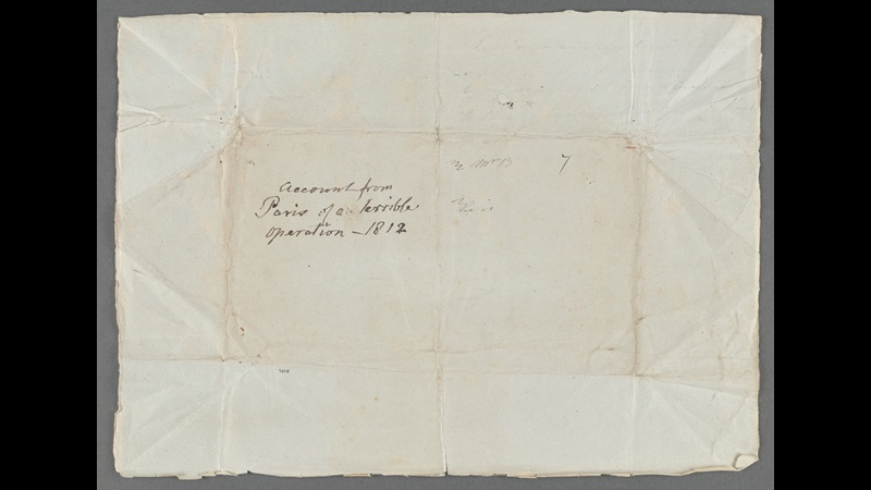 Letter from Frances Burney about her mastectomy without anaesthetic, 1812